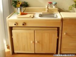 木製ままごとキッチンチェアータイプ《キッズ変身デスク》<C600N